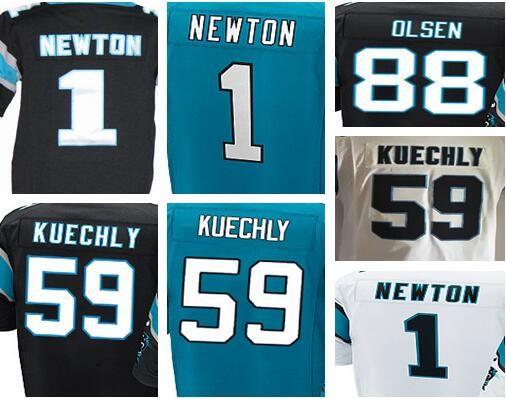 9a4788b42be ... hot youth top quality jersey 1 cam newton 59 luke kuechly 88 greg olsen  white black