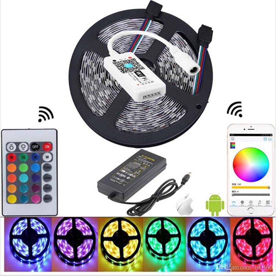Smd 5050 Rgb Led Strip Light Non Waterproof Led 5m Flexible Tape Kit ...