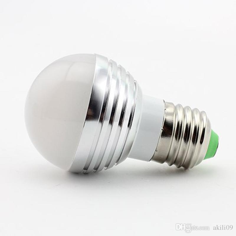 E27 B22 E14 GU10 Standard Basis 16 Farben ändernd Dimmbar 5W 3W RGB LED Glühbirne mit IR Fernbedienung für Dekoration Party