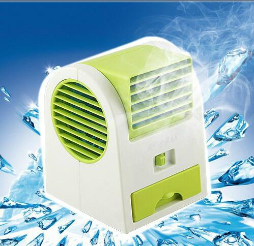 HOTTEST Sale Mini USB Fragrance Refrigeration Fan Portable Bladeless Desktop Fan Cooling Air Conditioner with Retail Packaging
