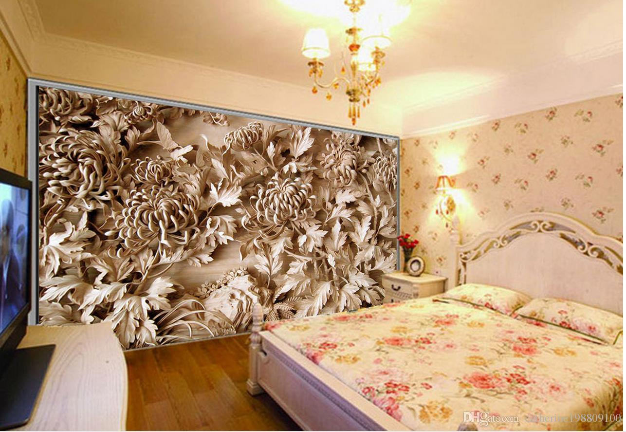 Wood Wall Mural photo any size wood carving background wall murals mural 3d
