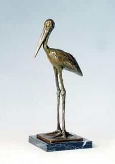 2019 Statues Gifts 13 Bronze Standing Bird Statue Antique Art Home