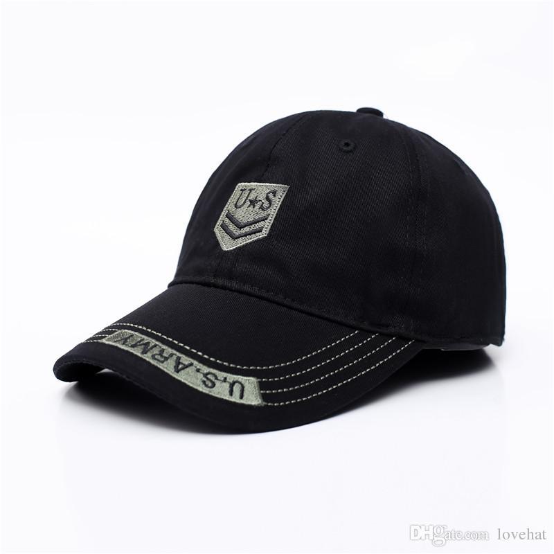 6db460d76d9 Classic Mens US Army Camo Baseball Outdoor Sport Caps Women Men Tactical  Hats Cotton Peaked Cap Flat Cap Trucker Hats From Lovehat