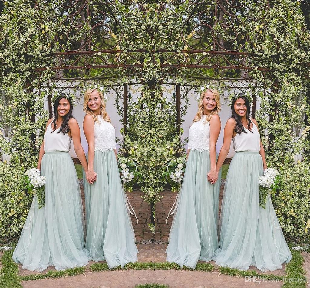 Mint tulle long bridesmaid dresses lace top a line 2017 bohemia mint tulle long bridesmaid dresses lace top a line 2017 bohemia country wedding maid of honor gowns plus size party dress cheap custom made turquoise ombrellifo Image collections