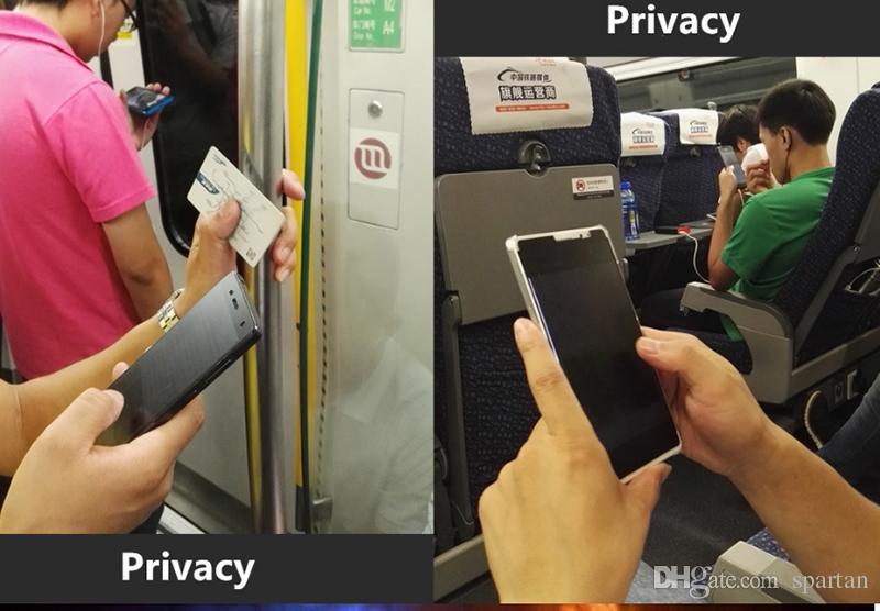 Alta qualidade de privacidade de vidro temperado para iphone xs max 8 7 plus 9 h 0.33mm protetor de tela anti-spy para samsung note 5 s7