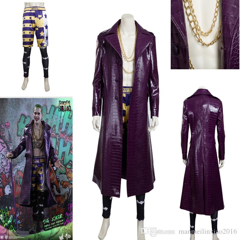 New Type Suicide Squad Joker Villain Cosplay Costume High Quality Outfit Full Suit Trench Necklace Custom Size 4 Person Group Halloween Costumes Theme ...  sc 1 st  DHgate.com & New Type Suicide Squad Joker Villain Cosplay Costume High Quality ...