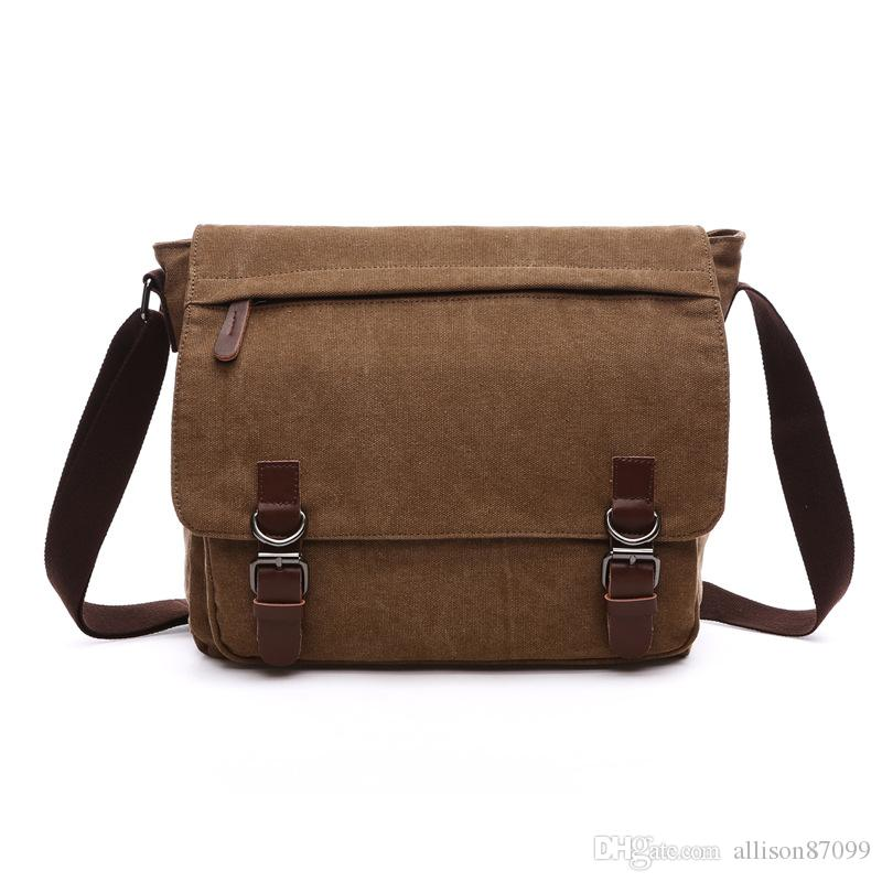 Fashion Messenger Bags Crossbody Bag Flapover Laptop Bag Ipad Canvas Day  Packs For Boys Young Men Straps Medium Large 2017 New Hotsale Mens Messenger  Bags ... f3878b5b1a