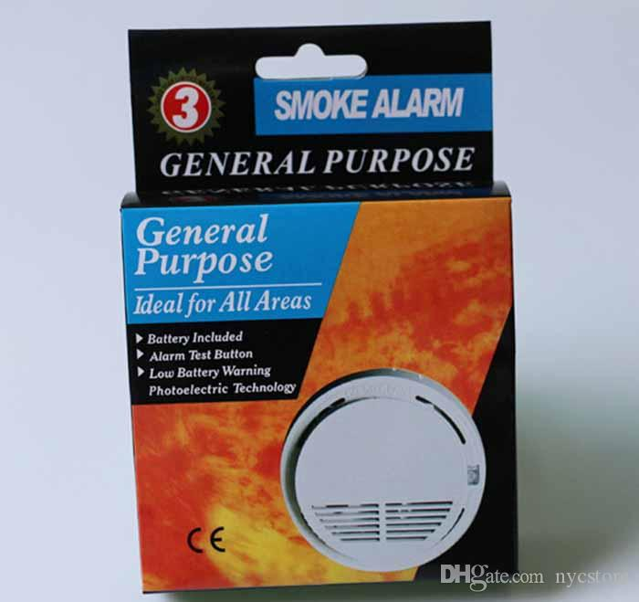 DHL Wireless Smoke Detector System with 9V Battery Operated High Sensitivity Stable Fire Alarm Sensor Suitable for Detecting Home Security