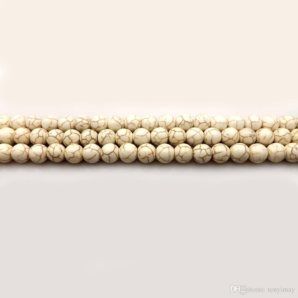 Cuentas sueltas de la turquesa 8m m para la joyería DIY 11 diversos colores paquete de