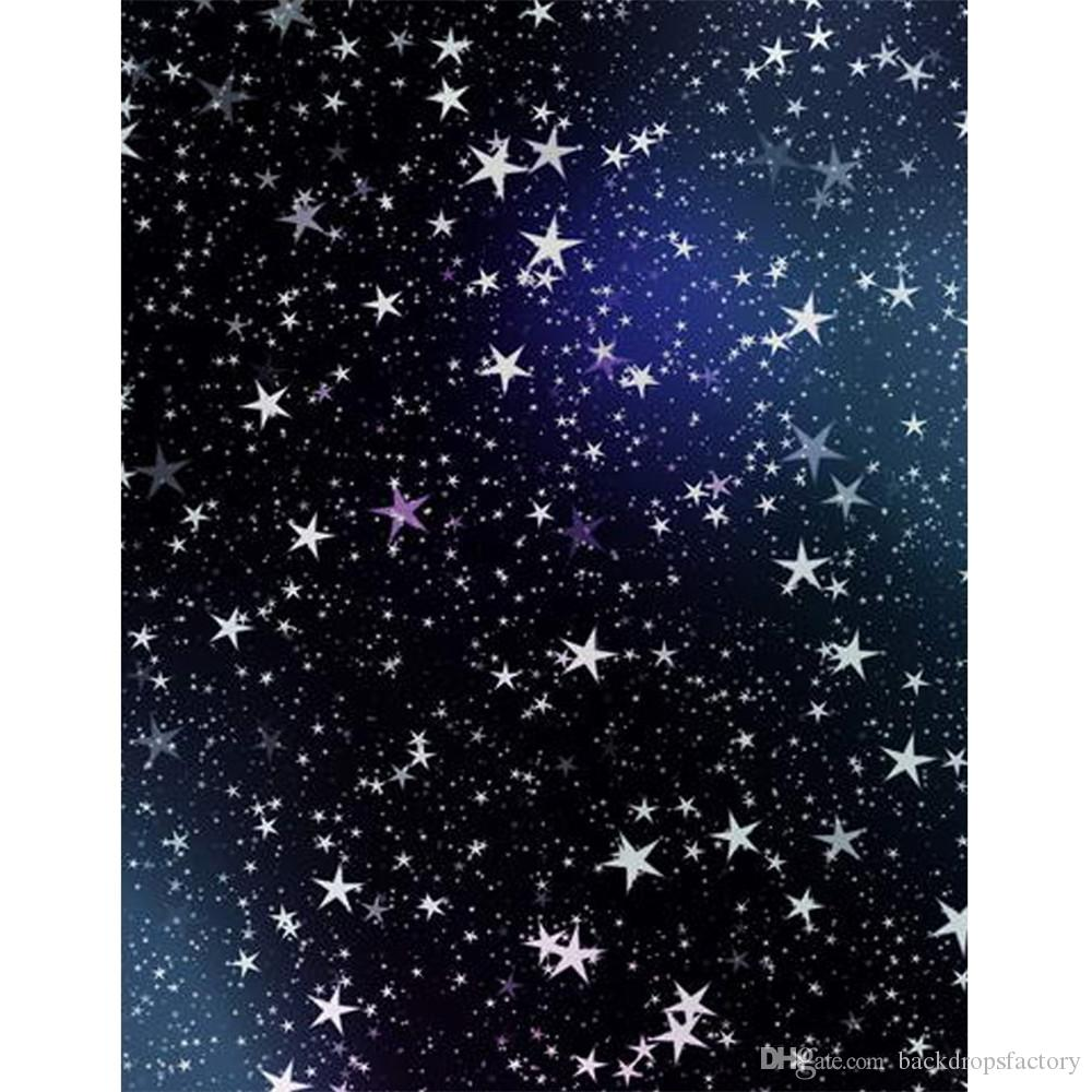 2019 5 x 7 ft dark blue night sky stars background fabric