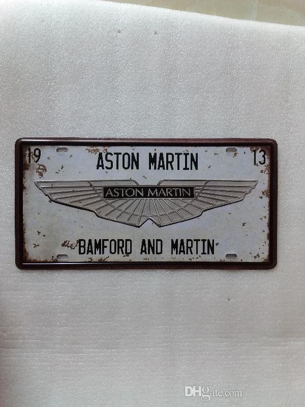 ASTON MARTIN 3D embossed Retro Metal Plaque Car Number Retro Licence Plate Tin Sign Bar Pub Home Cafe Wall Decor Retro Metal Art Poster
