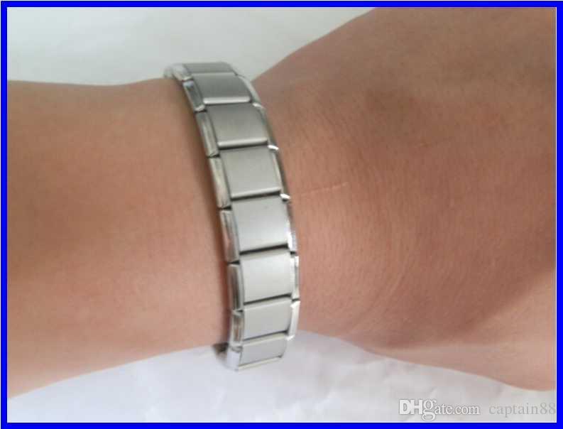 Vendita calda Nuovo braccialetto di energia di arrivo Titanio, Nano Energy Magnetic Germanio Titanium Braccialetto Pain Relief Potente!