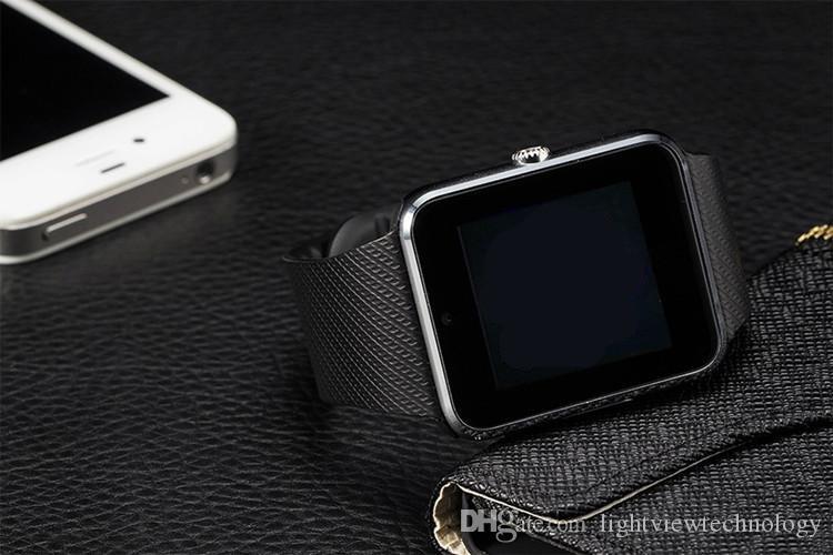 GT08 الذكية ووتش المعصم الهاتف ملابس للحصول على الروبوت IOS دعم SIM / TF بطاقة كاميرا مقياس الخطو النوم مراقبة VS DZ09 جودة عالية