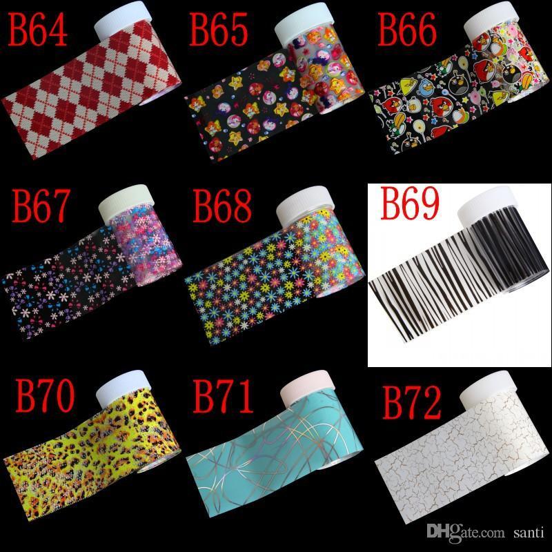 233 opções nail art folha de transferência de papel adesivo diy beleza polonês design elegante ferramentas de decoração de unhas