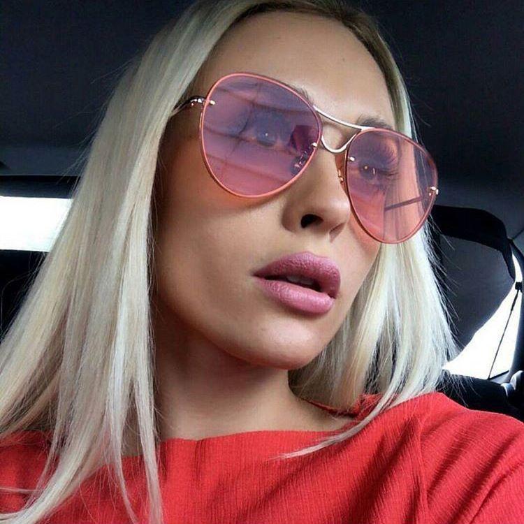 3b44248ae Trend Fashion Flat Top Lens Mirror Aviation Sunglasses Women Stylish Sun  Glasses Lady Men Rose Gold Eyewear Mirror YW089 Polarised Sunglasses Baby  ...