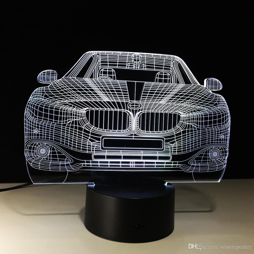 3D Car Auto Illusion Lamp Night Light DC 5V USB Powered 5th Battery Wholesale Dropshipping