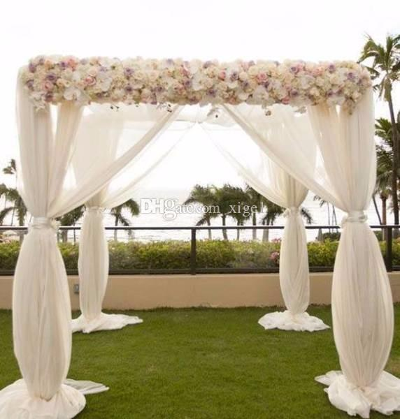 2019 3M*3M*3M White Square Canopy Drape With Stainless Steel PipesWedding Stage Decoration Wedding Backdrop From Xige1 $201.01 | DHgate.Com & 2019 3M*3M*3M White Square Canopy Drape With Stainless Steel Pipes ...