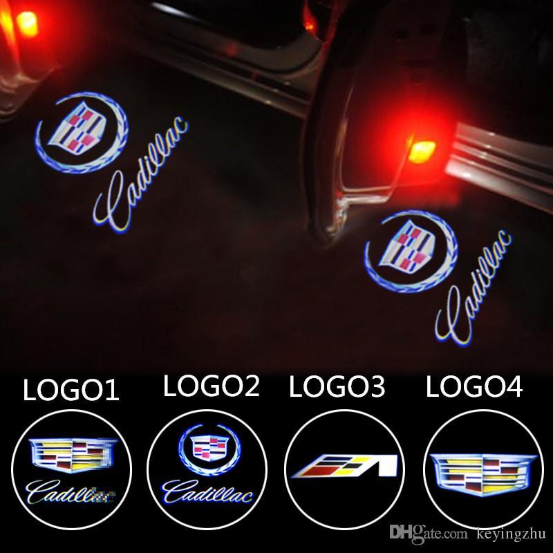 Car Door Light Warming Logo For Cadillac