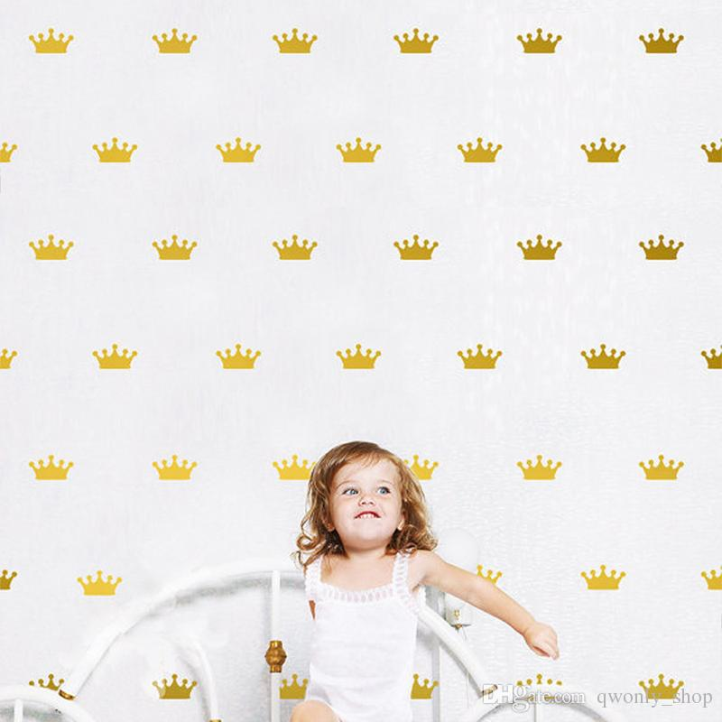 DIY Queen Crown Wall Decal for Kids Room Decor Vinyl Wall Art Stickers for Nursery Room Decoration