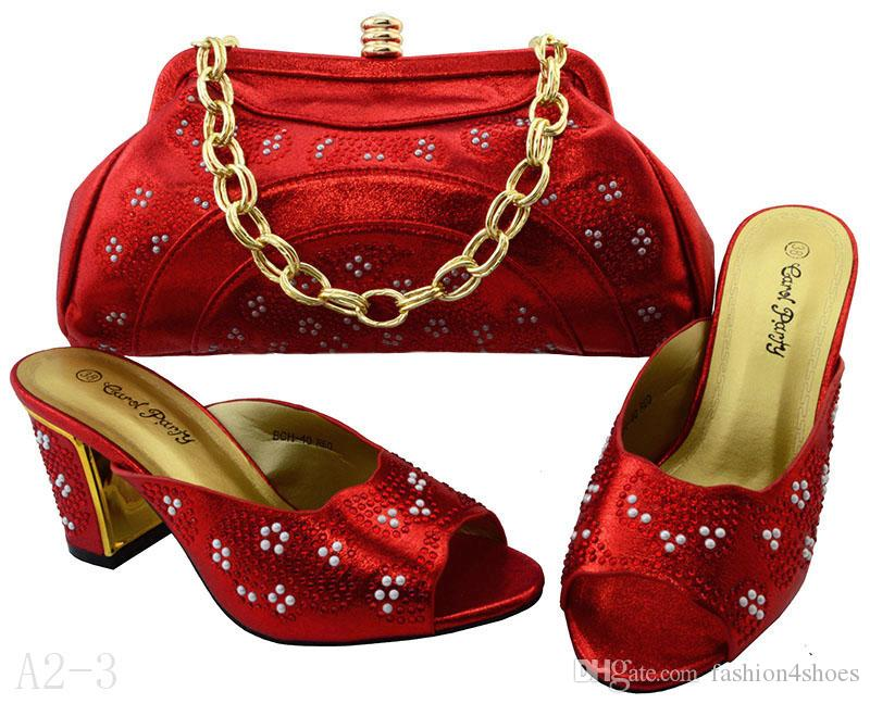 BCH-40 Teal Hot Selling Pink Color African Shoes And Matching Bags ... 09c008d6f971