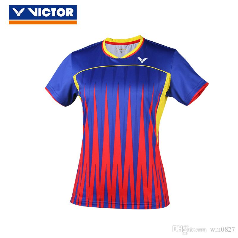 national uniform Malaysia VICTOR badminton wear t-shirts men/women clothes,polyeater breathable table tennis jersey short sleeve T-shirt