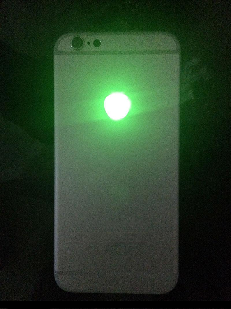 For iPhone 6S 4.7 LED Logo DIY Luminescent LED Light Glowing Logo Mod Panel Kit For iphone6S Back Housing DHL Free