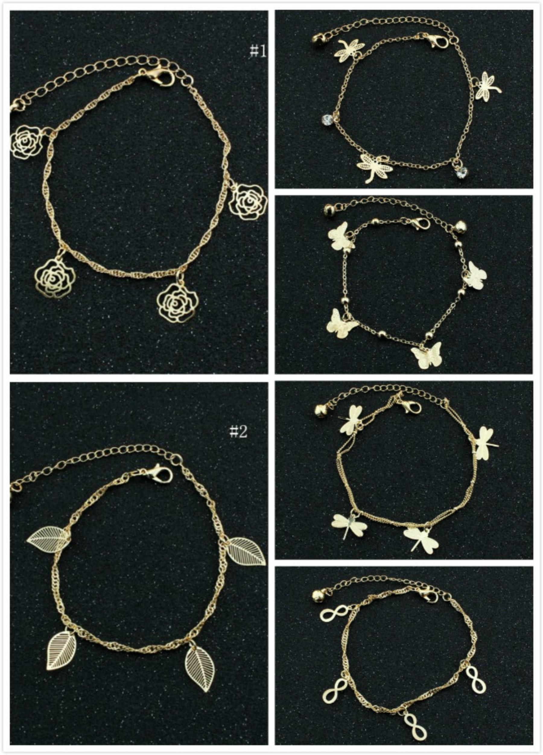 anklet bracelet catholic christian ankle with charms gold pin cross plated cute bracelets