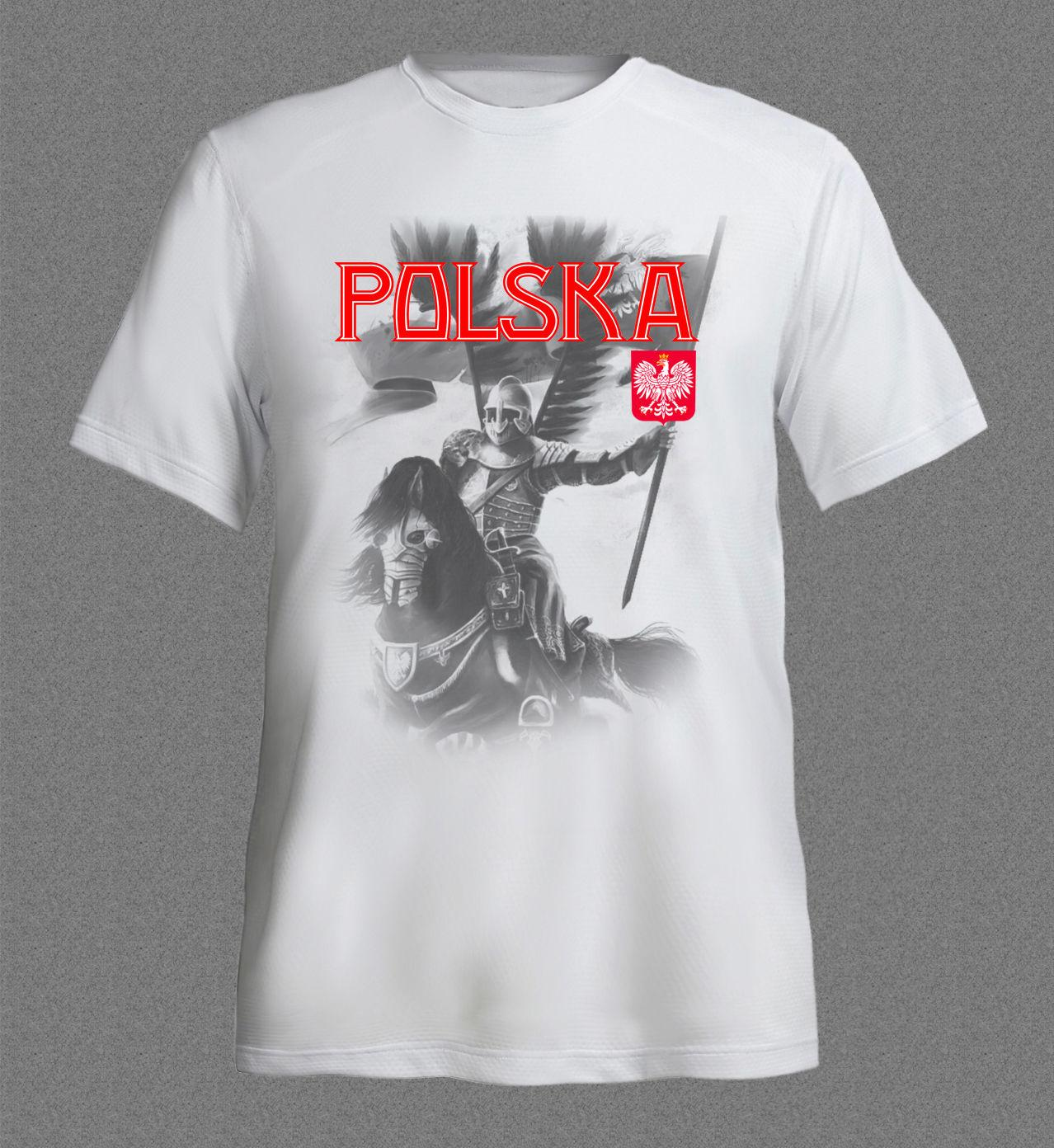 f6e1ac6a5 Fashion Men T Shirt POLAND POLSKA HUSARIA FOOTBALLER SOCCERER White T Shirt  Hot Selling 100 % Cotton Tee Shirts T Shirt On Shirt Online Tee Shirts  Shopping ...