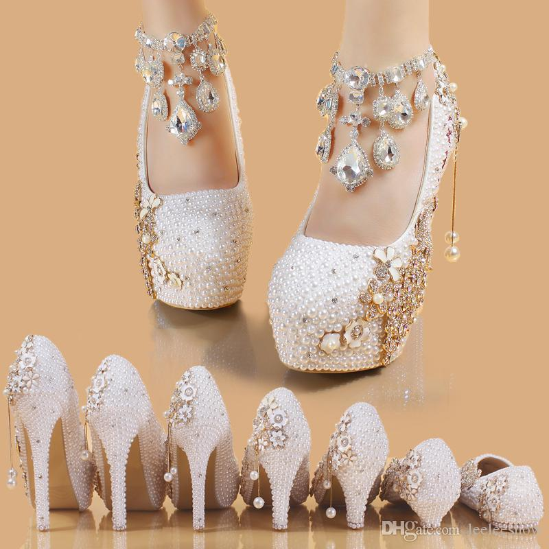 2017 New Summer Crystal Shoes Bridal Shoes Pearl Shoes Diamond Female High  Heeled Phoenix White Waterproof Platform Pink Shoes Munro Shoes From  Leeleeshow b6a22fca0327