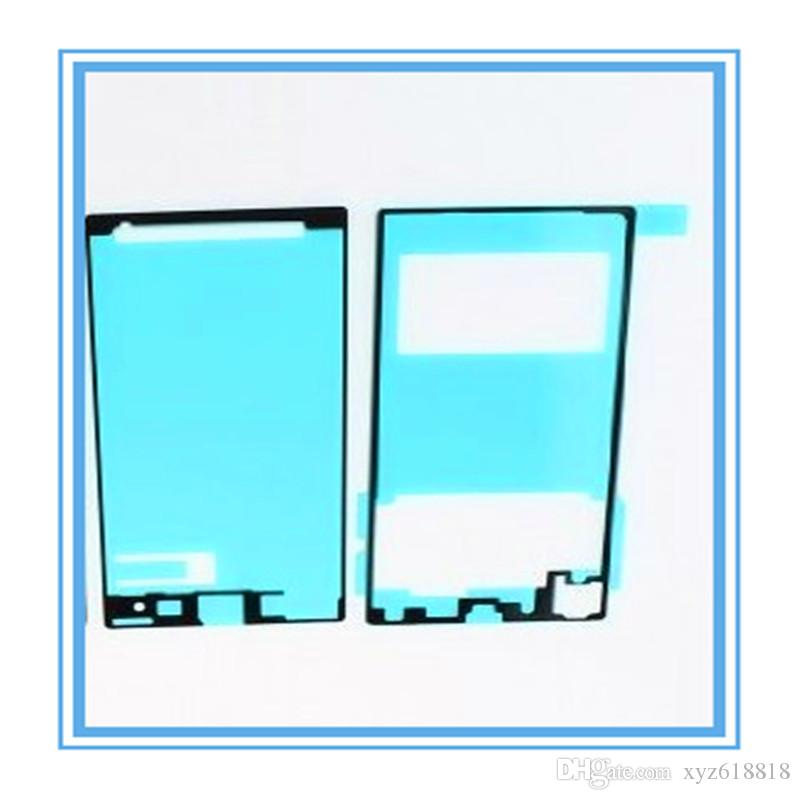 =New Replacement LCD Front Frame Housing + Back Battery Door Cover Adhesive Glue Sticker For Sony Xperia Z1 L39h
