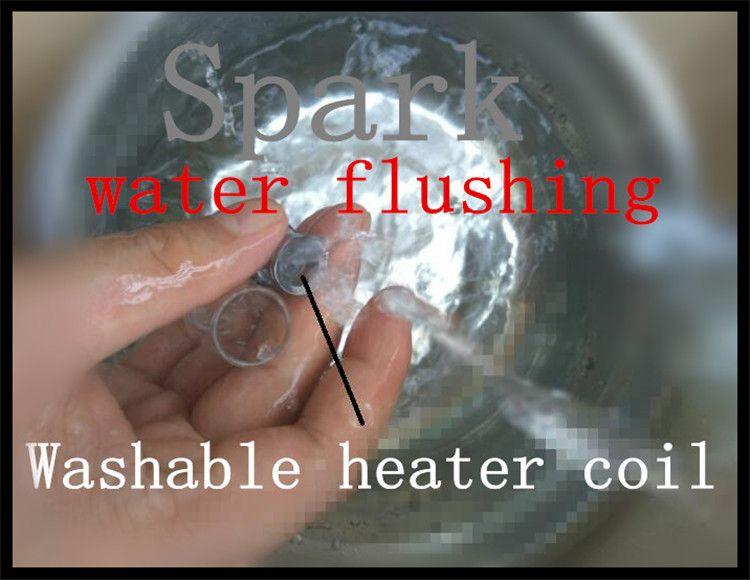 510 vape balmumu atomizer buharlaştırıcı tankı cam odası kuvars fincan ısıtma elemanı yıkanabilir yedek ısıtma bobin kafası balmumu dab tankı 2017