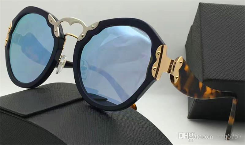 أحدث صيحات الموضة للنساء النظارات الشمسية المستديرة الرجعية تصميم خاص نمط أعلى جودة نظارات حماية uv400 مع المربع الأصلي 09T