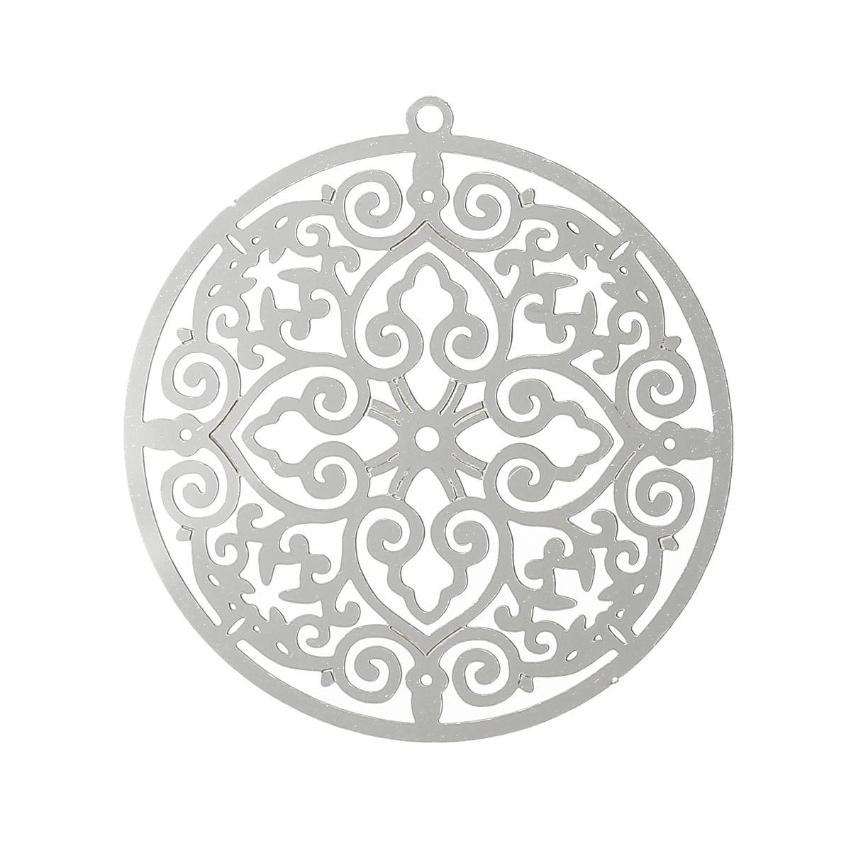 Wholesale stainless steel charm pendant new fashion silver tone 36 aloadofball Choice Image