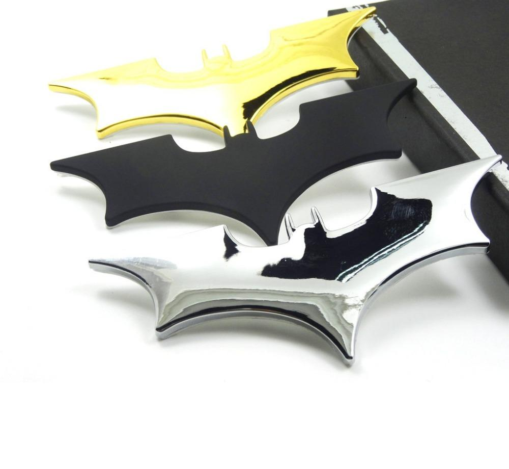 3D Cool Metal bat auto car styling car stickers metal batman badge emblem tail decal motorcycle car accessories automobiles