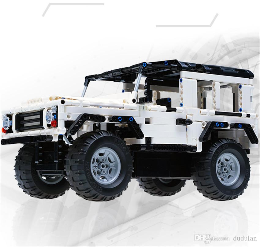 New Hummer RC Tiger Car Building Blocks Charging Remote Control Toys for Boys Kids Educational Assembly Toy Gift Bricks
