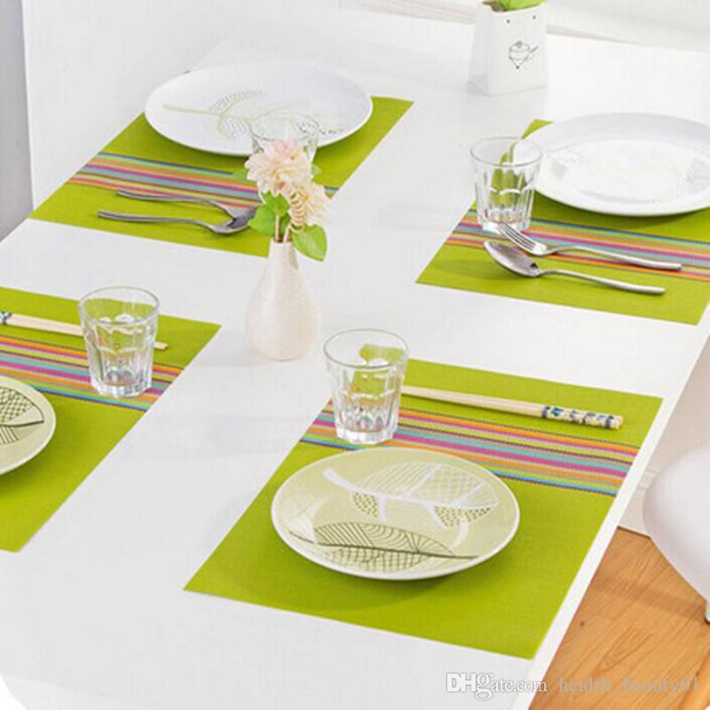 Pvc Placemat Dining Table Mats Set De Table Bowl Pad Napkin Dining Table Tray Mat Coasters Kids Tableset Dining Bar Table Mats Pvc Placemat Pvc Placemat ...  sc 1 st  DHgate.com & Pvc Placemat Dining Table Mats Set De Table Bowl Pad Napkin Dining ...