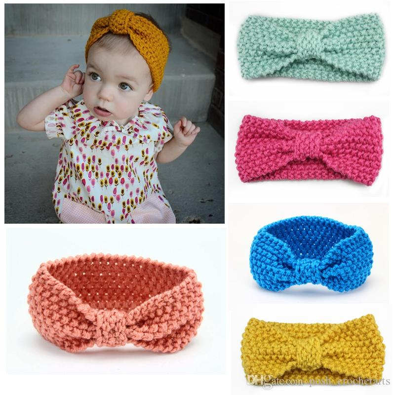 Crocheted Headbands For Babies And Toddlers Knotted Turban Style Baby Headband  Children Ear Warmers Handmade Photography Props Infant Girl Hair  Accessories ... f00e88bf964