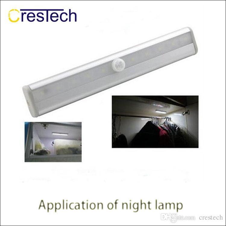 Lámpara de noche Control de luz Infrarrojo PIR Sensor de movimiento automático Luz LED Sensor PIR Portátil Armario de pared inalámbrico Gabinete Luz nocturna