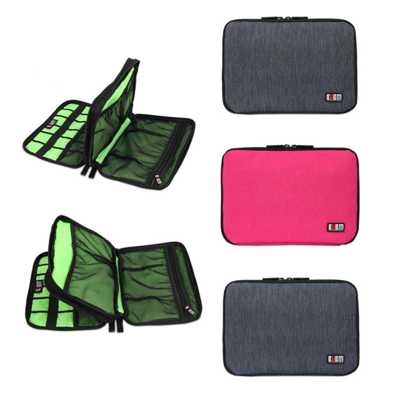 5ee3879ffbba 2019 Wholesale Large Double Layer Cable Organizer Bag Digital USB Cable  Earphone Pen Travel Portable Storage Case From Sophine08