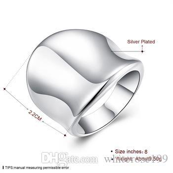 Hurtownie - detaliczna najniższa cena prezent świąteczny, Darmowa wysyłka, nowy pierścień mody 925 R52