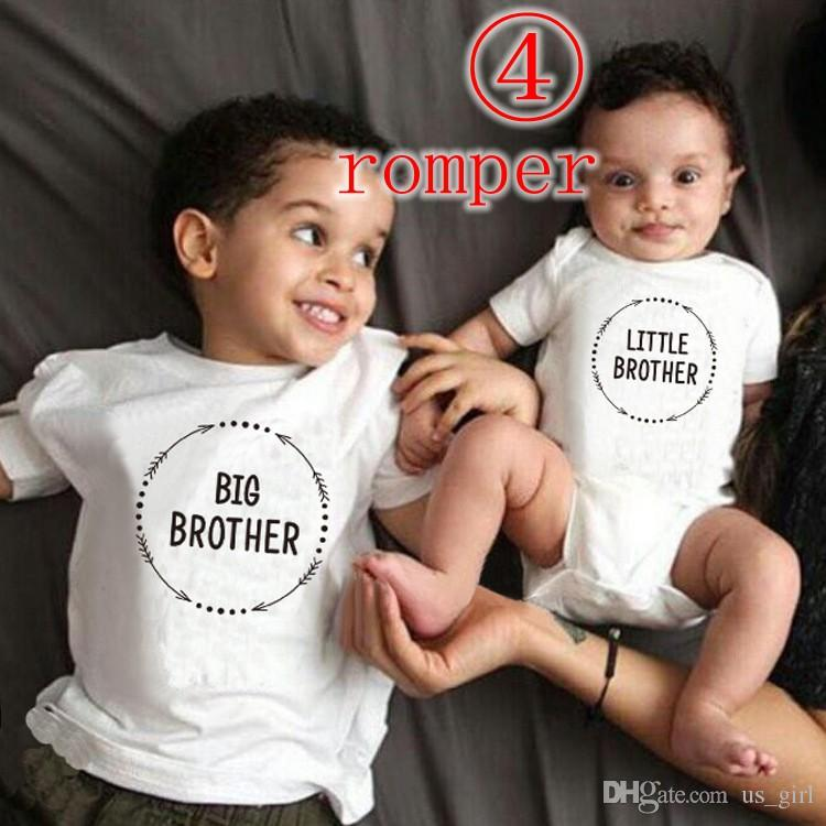c1ceb93a29dd Infant Baby Boys Little Brother Romper Kids Big Sister T Shirt 2 ...