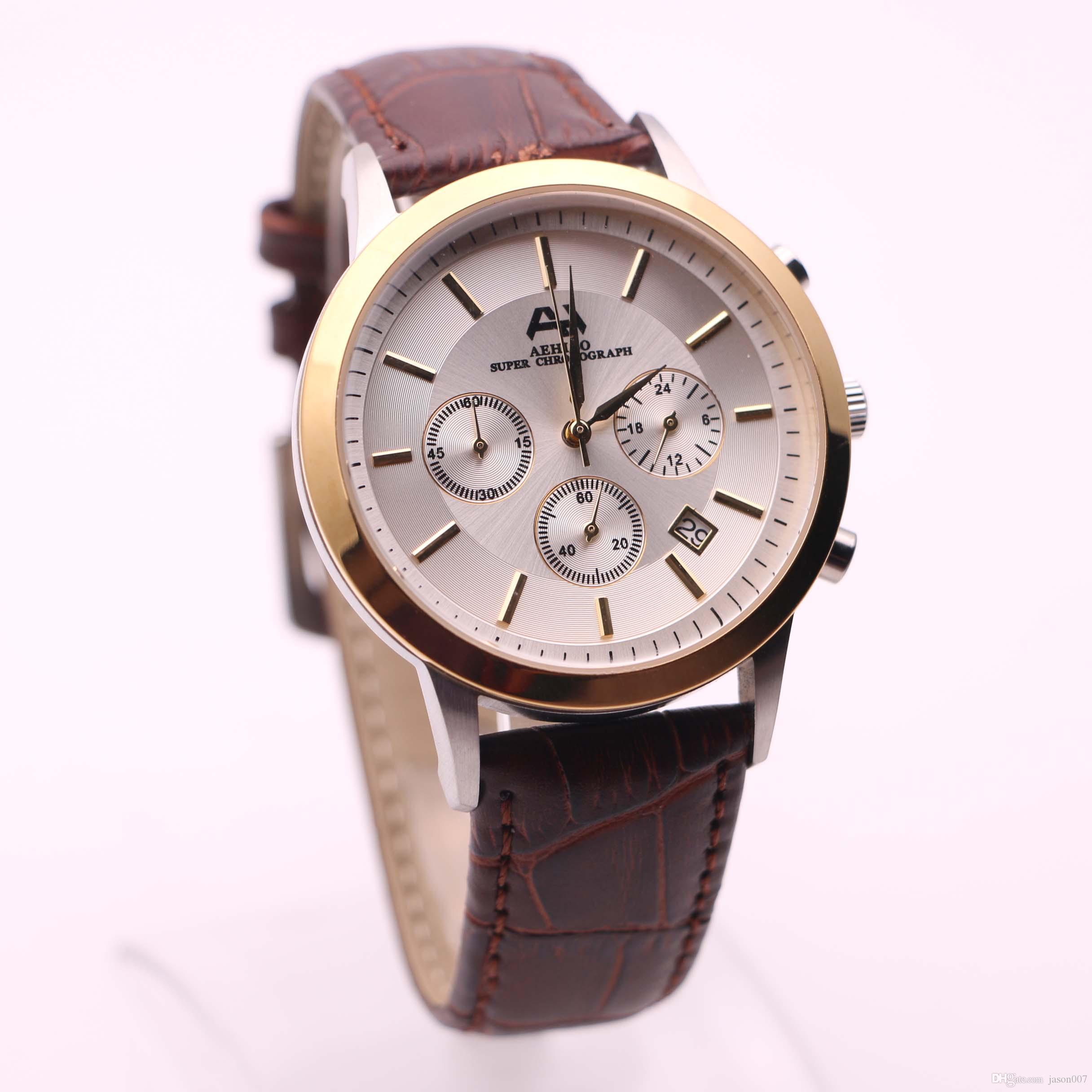 simple product men dial mini watches new male fashion detail focus brand g mf quartz clock gold