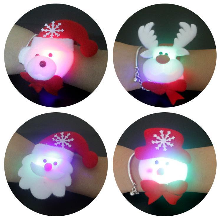 Año Nuevo 2017 Lentejuelas Clap Círculo Navidad Pat Mano Anillo Chrismas Santa Slap Brazalete Regalos Para sus KIds