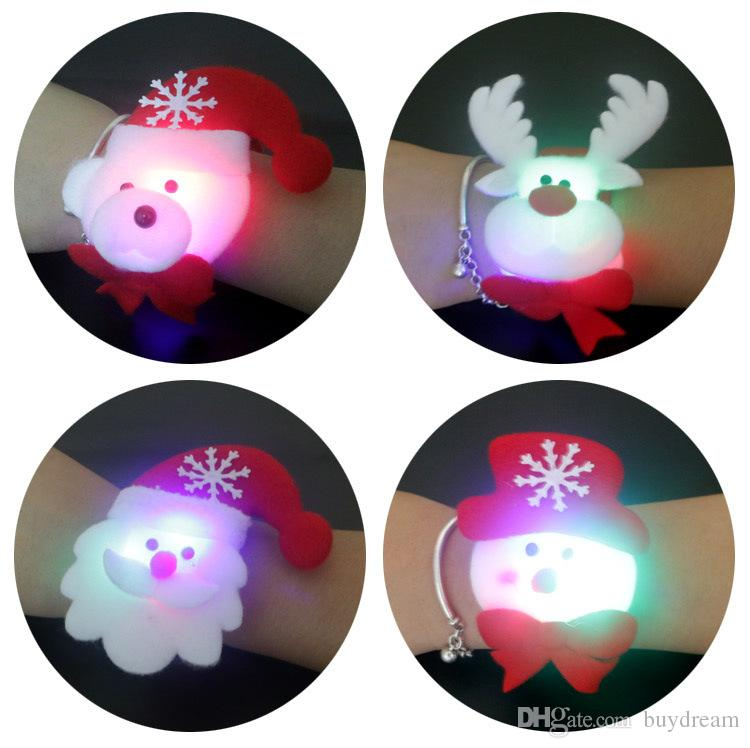 Luminous Hand Ring Glow Bracelets party gift led Creative lovely Cartoon Flash Wrist With Small Toys supplies
