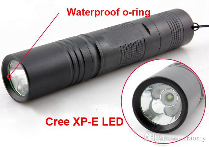 Outdoor bike bicycle light 18650 flashlight torch Cree XP-E LED Flashlight 5 modes torch With 360 degree rotating mount