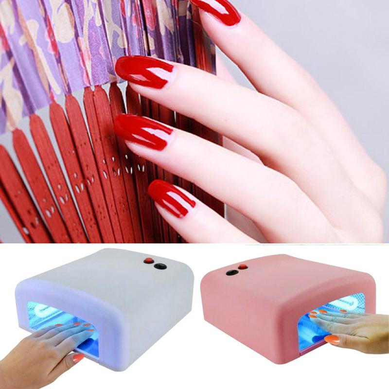 36 W Secador de Uñas Forma de Diamante Rojo LED UV CCFL Light Gel Lámparas de Curado 2017 Nuevo Popular Secado Gel Esmalte de Uñas Herramientas