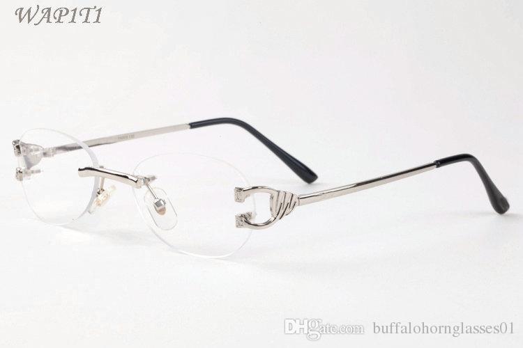 Mens Designer Sonnenbrille Brille Vintage Sonnenbrille Damen Oversize Randlose Sonnenbrille Marke Mode Luxus Fahren Angeln Brillen