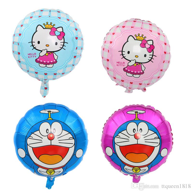"""18"""" Hello kitty Foil air Balloons Kids Classic Toys Birthday Party Decorations Cartoon balloons holiday Supplies Globes"""