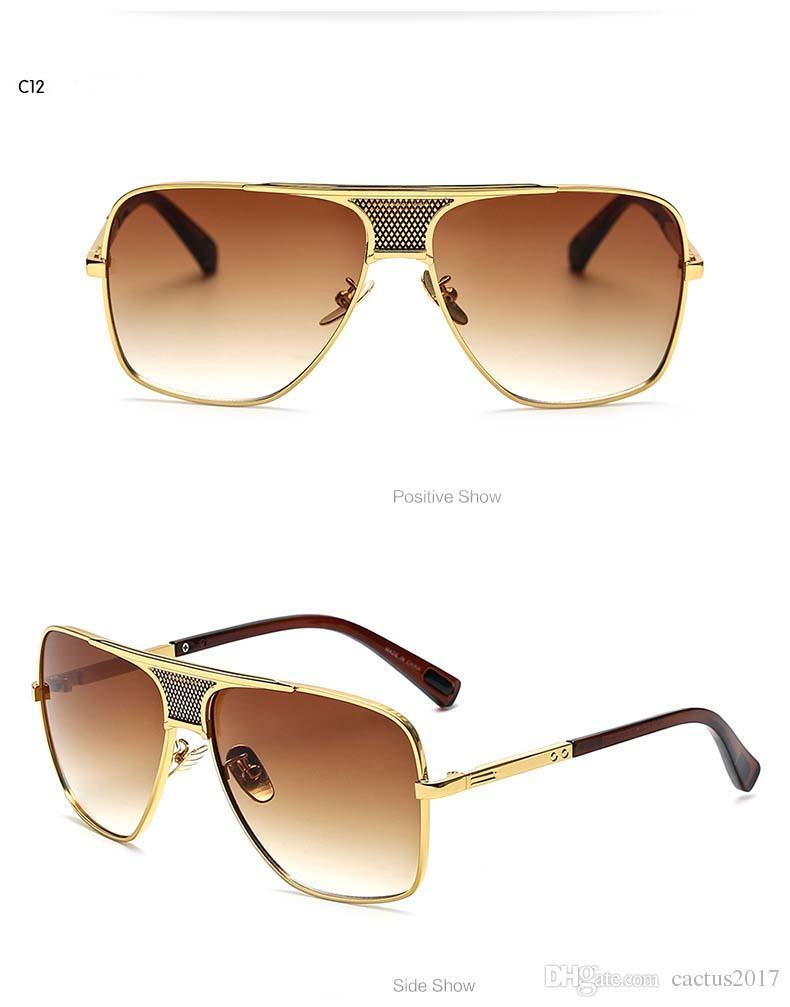 Lunettes de soleil de mode hommes Marque Designer Aluminium Hommes lunettes de soleil polarisées Lunettes de soleil Lunettes de soleil Hommes Hommes Lunettes de soleil miroir Lunettes