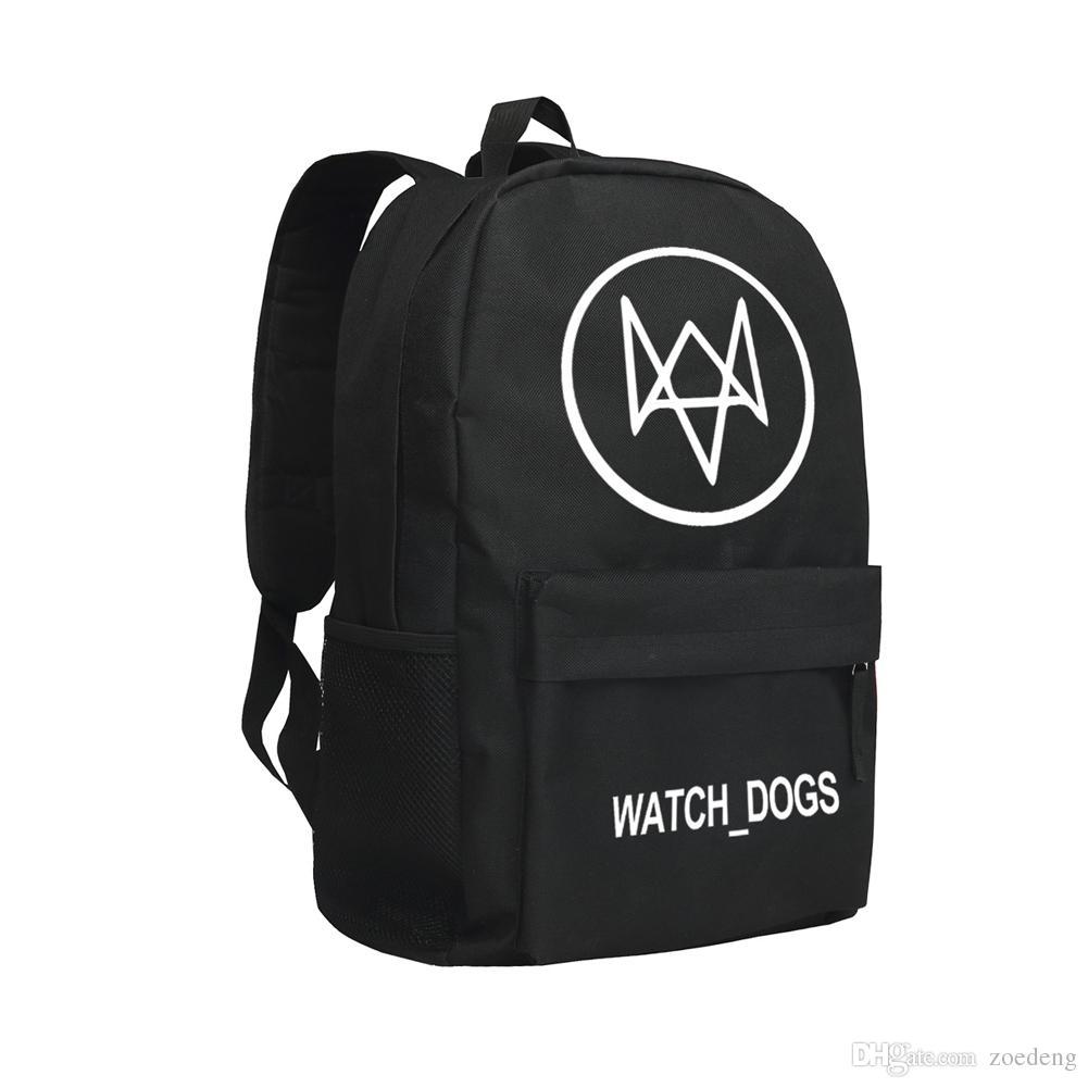 5dc30148e7 Children School Bags Oxford Bag Watch Dog Knapsack Game Backpack Men Oxford  Shoulder Bags For Students Hiking Bag Black Large Capacity Bag Toddler  Backpack ...